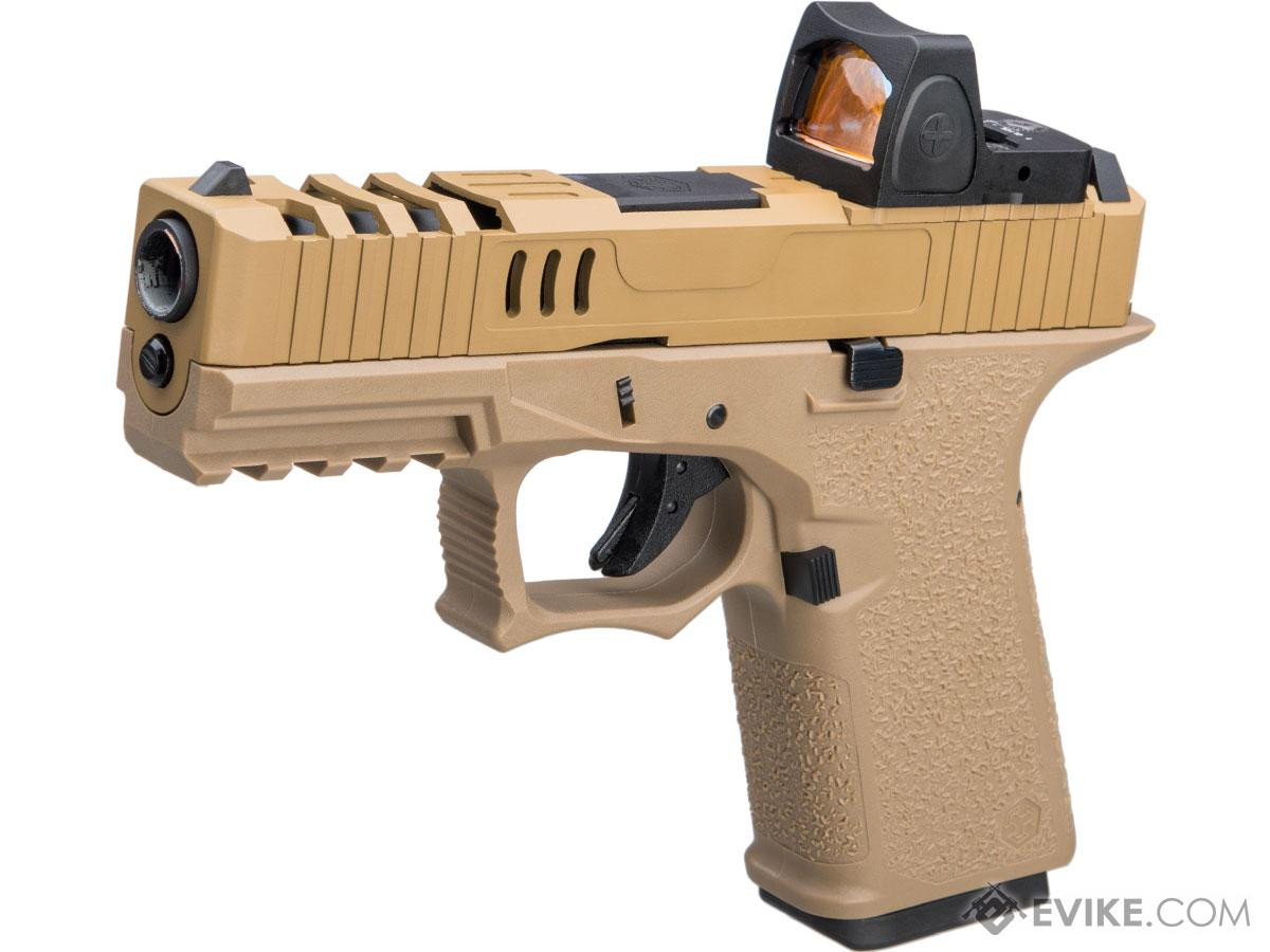 AW Custom VX9 Compact Series Gas Blowback Airsoft Pistol (Model: X80 - MRDS Sight / FDE)