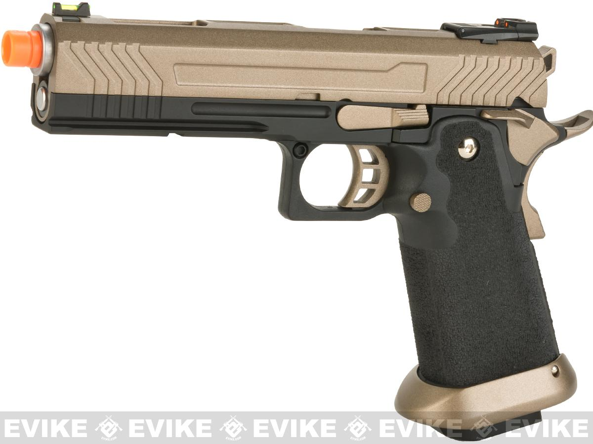 AW Custom Hi-Capa Competition Grade Gas Blowback Airsoft Pistol (Color: Flat Dark Earth Slide)