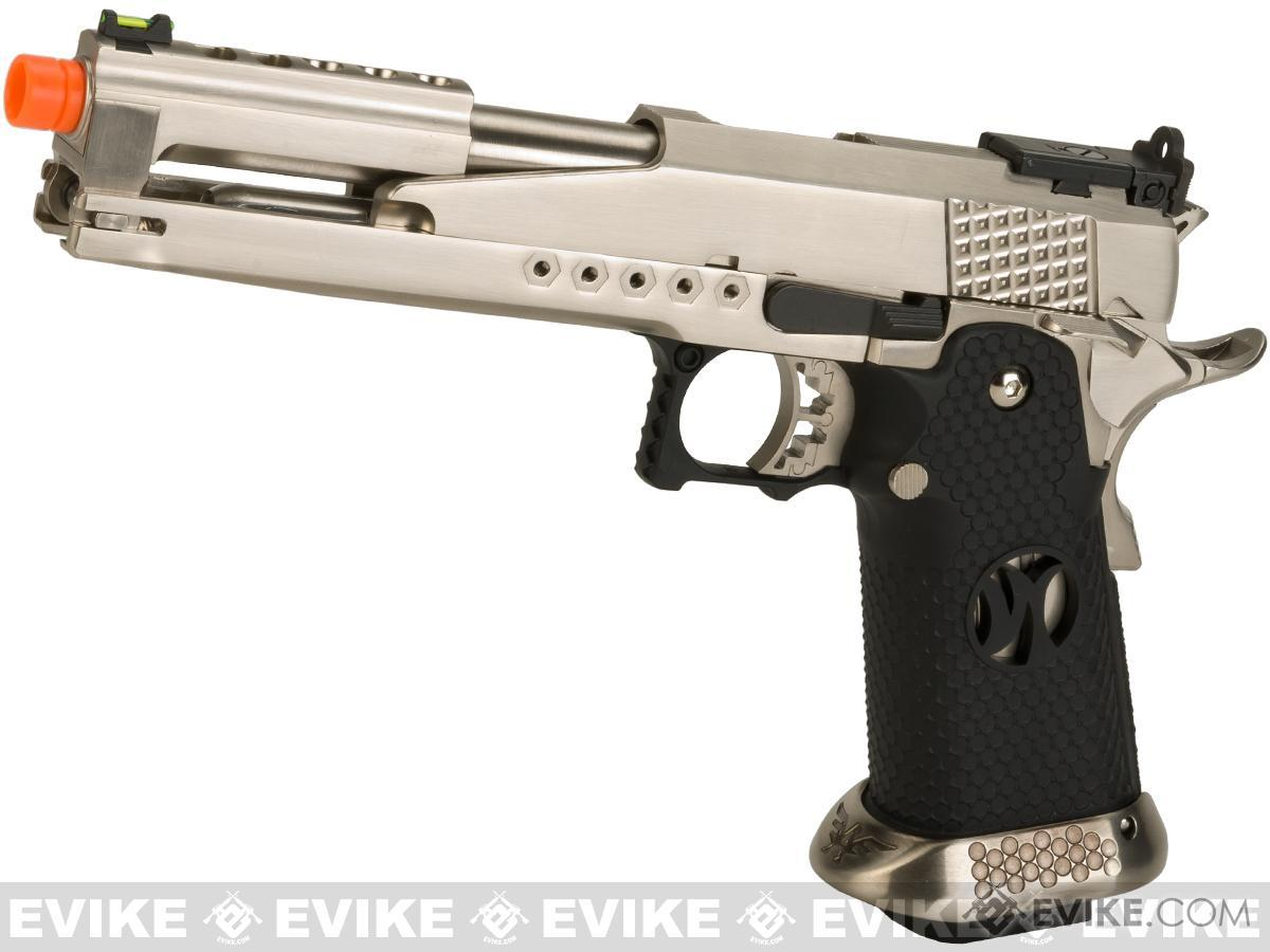 AW Custom AW-HX2201 Gold Standard IPSC Gas Blowback Airsoft Pistol (Color: Silver)