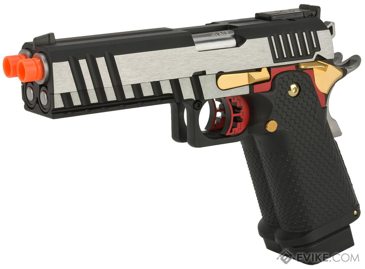 AW Custom Double Barrel 1911 Hi-Capa Gas Blowback Airsoft Pistol (Color: Two Tone)