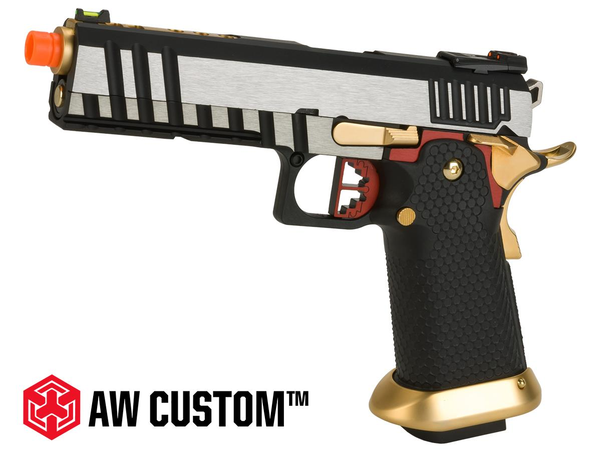 Pre-Order ETA April 2018 AW Custom Competitor Hi-Capa Gas Blowback Airsoft Pistol  (Package: Two-tone / Gun Only)