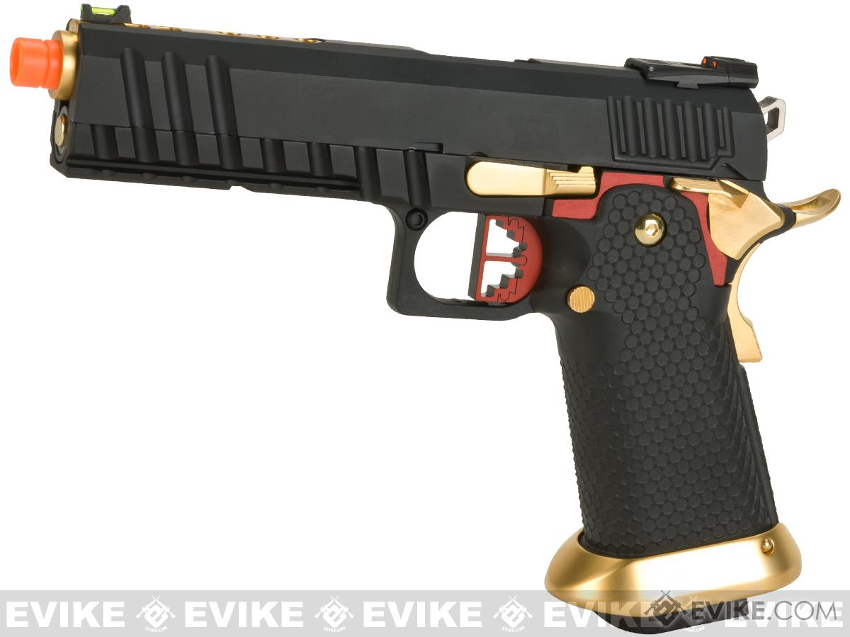 AW Custom Competitor Hi-Capa Gas Blowback Airsoft Pistol (Package: Black / Gun Only)