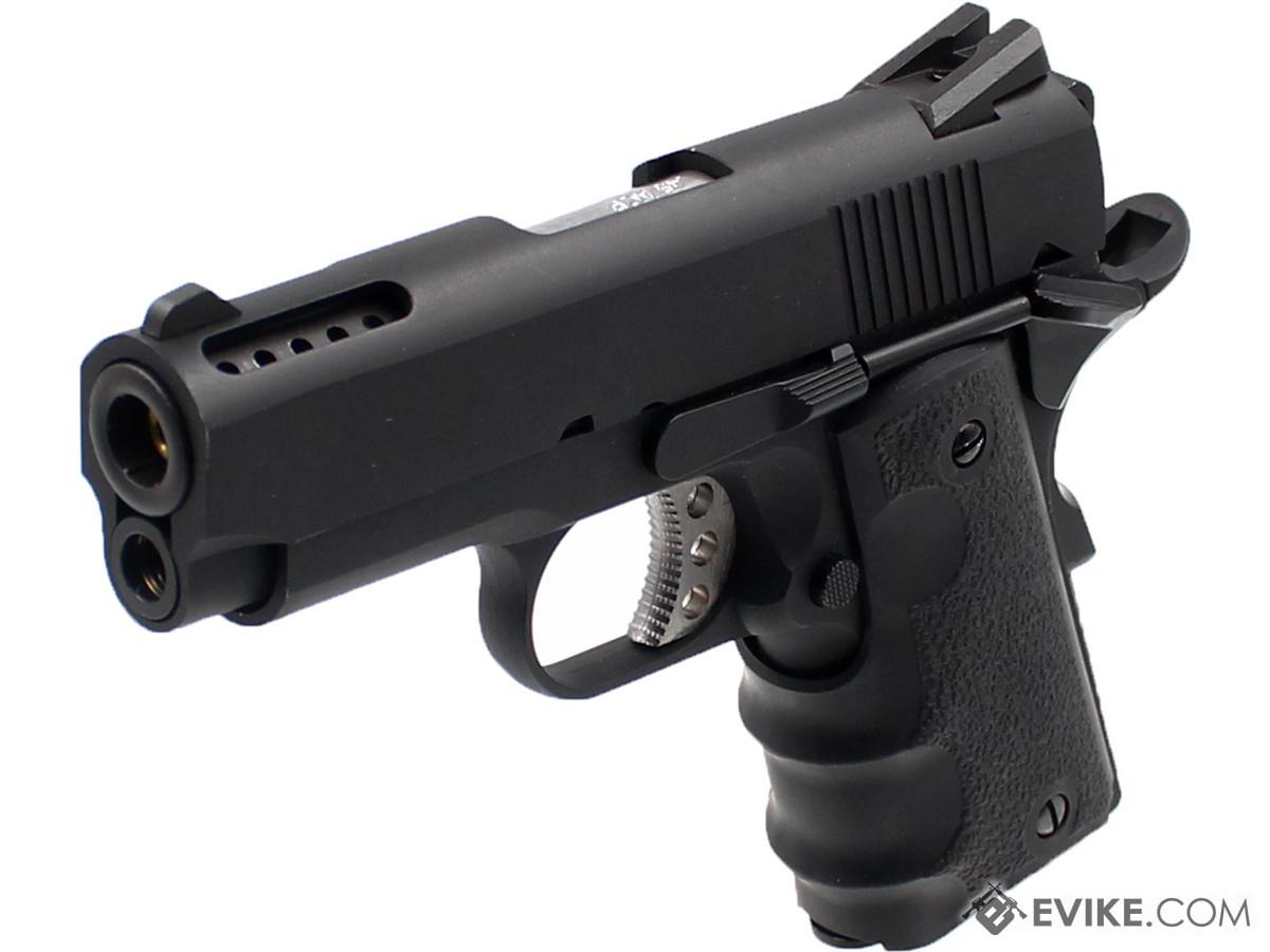 AW Custom NE10 Series 1911 Officer Size GBB Pistol (Color: Black)