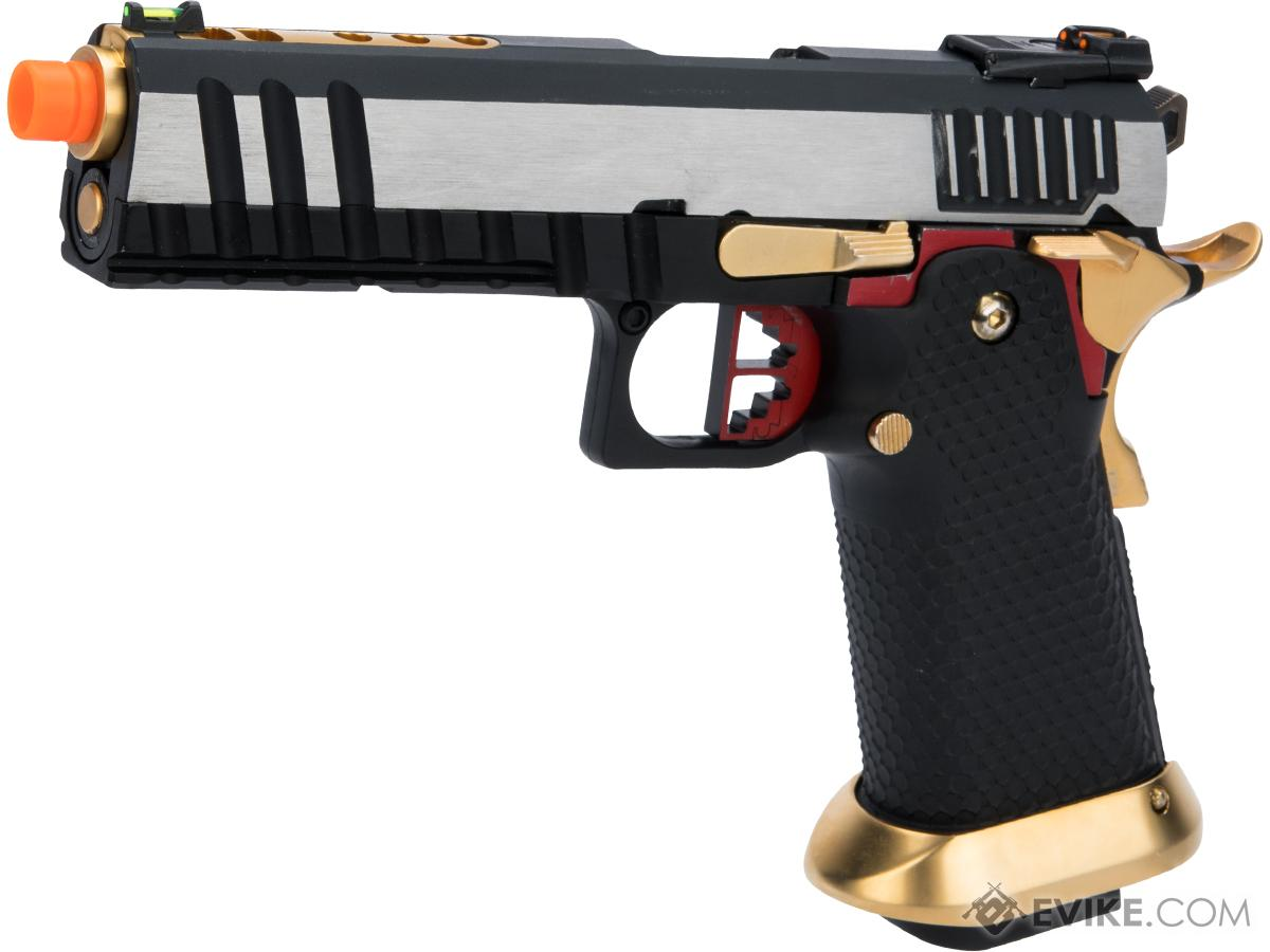 AW Custom Competitor Hi-CAPA Gas Blowback Airsoft Pistol (Package: Two-Tone / Full-Auto Capable / Gun Only)