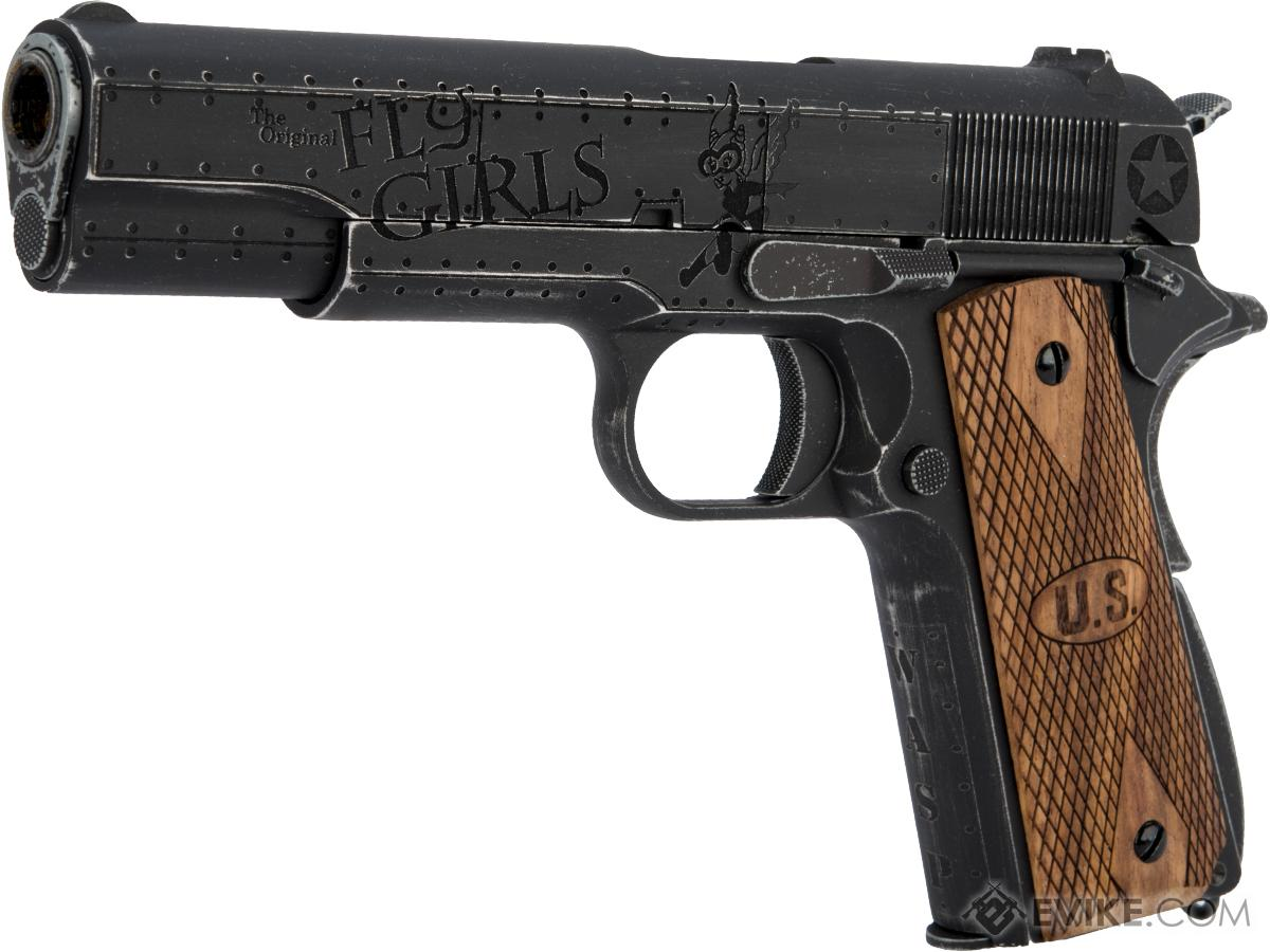 Pre-Order ETA July 2020 Auto-Ordnance Custom 1911 Gas Blowback Pistol Licensed by Cybergun (Model: Fly Girls)