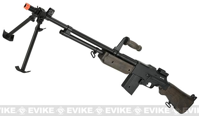 BAR M1918 A2 Full Size Full Metal Airsoft AEG Rifle w/ Steel Bipod by Matrix (Furniture: Real Wood)
