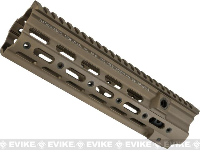 Azimuth Airsoft SMR 10.5 Rail for VFC/Umarex HK416 Series Airsoft Rifles - Tan (With Markings)