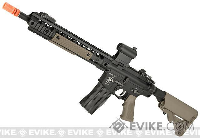 BOLT M4 B-4 Knights Armament SR-16 URX 3.1 Full Metal Recoil EBB Airsoft AEG Rifle (Color: Tan)