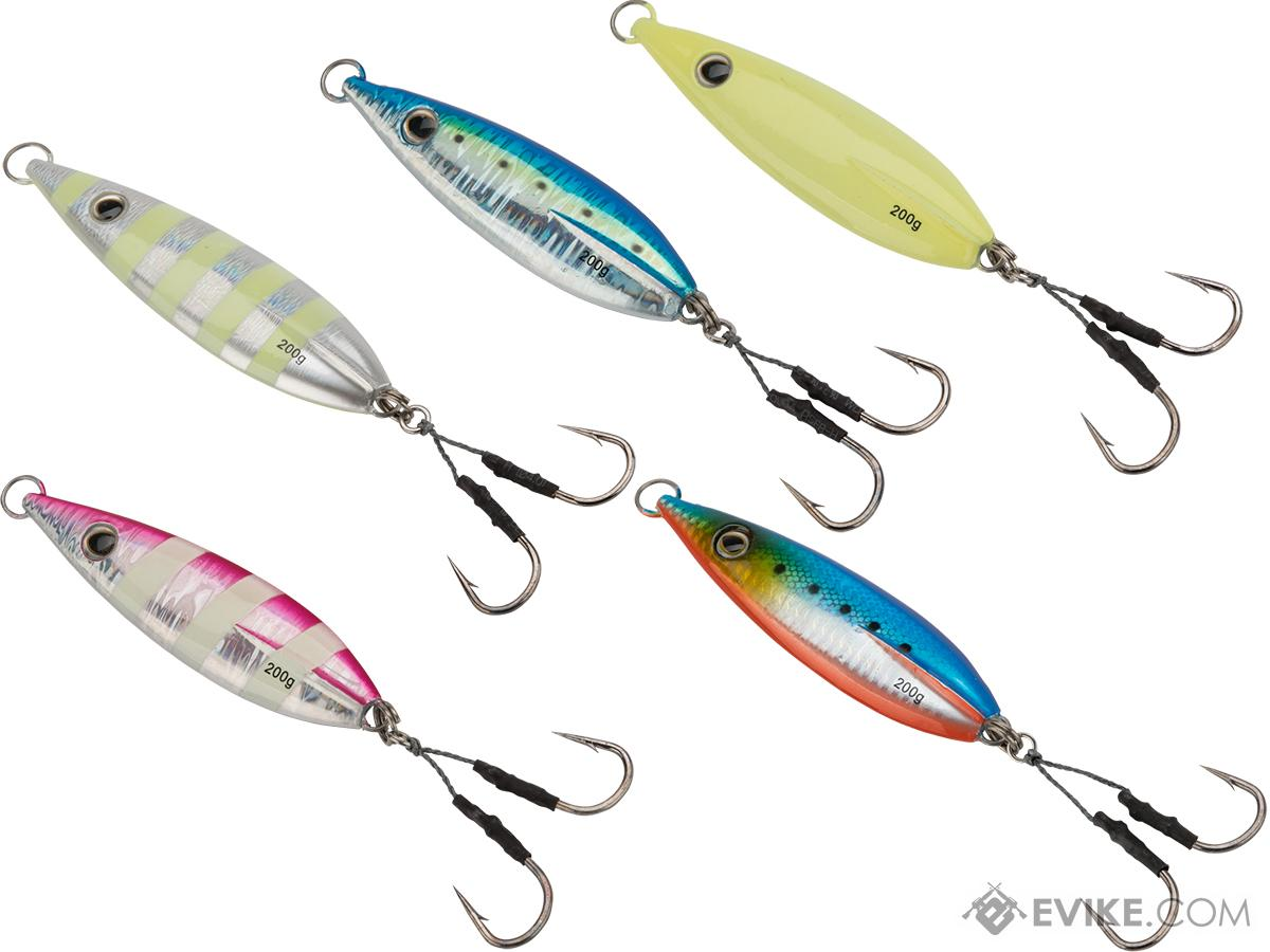 Battle Angler Phantom-Fall Jigging Lure Fishing Jig (Model: 200g Seven Seas Bundle)