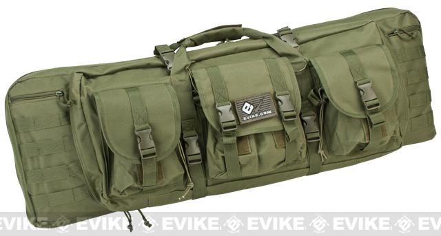 Combat Featured 36 Ultimate Dual Weapon Case Rifle Bag (Color: OD Green)