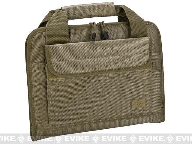 Evike.com 12x14 Padded Double Pistol Handgun Carrying Case (Color: Tan)
