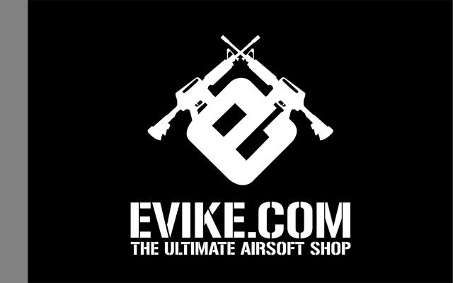 Evike.com Airsoft IFF Field Flag Banner (Color: Black)