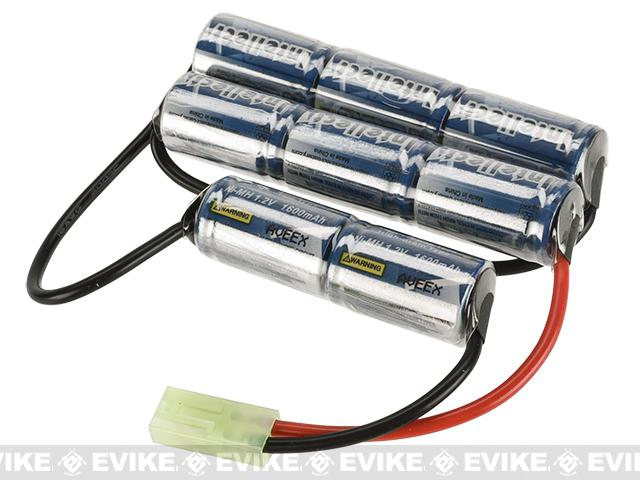 Intellect Custom NiMH Airsoft Battery Pack for Airsoft AEGs (Size: 9.6V 1600mAh / 3 Stick Custom)