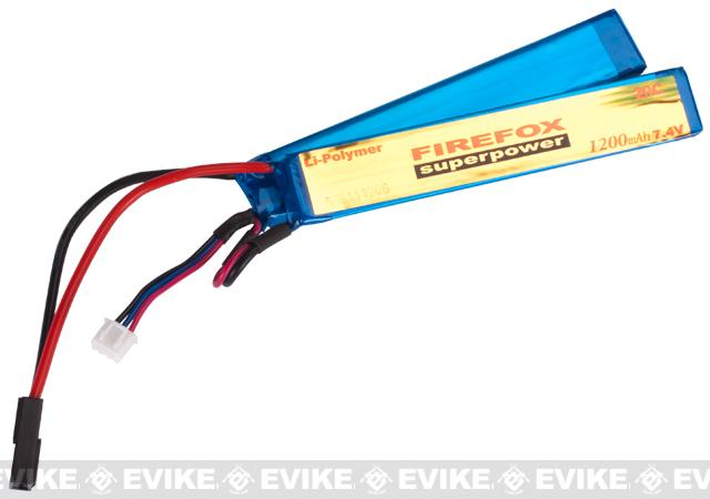 Firefox 7.4V 1200mAh 20C Airsoft Li-po Battery (2-Piece)