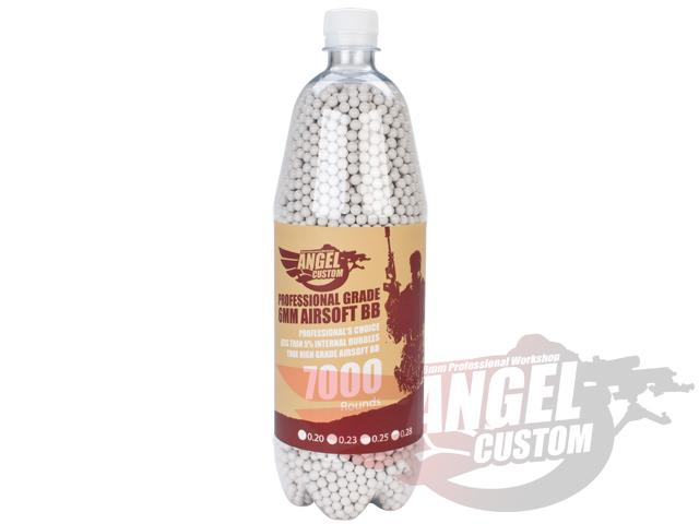 Angel Custom 7000 Rounds Professional Grade 6mm Airsoft BBs (Weight: 0.20g)