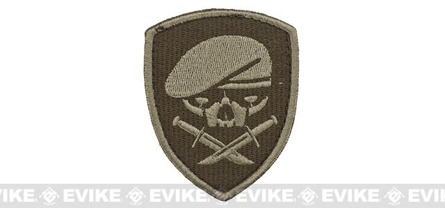 Embroidered Tactical Velcro Patch - Menace of Horror - Tan