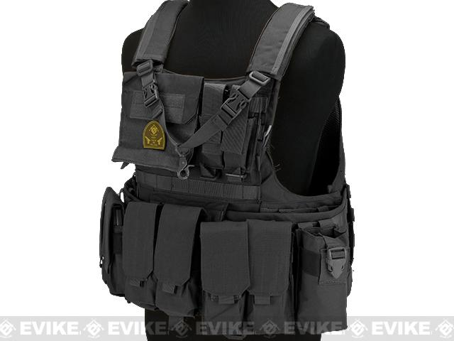 Matrix Assault Plate Carrier Vest w/ Cummerbund & Pouches - Black