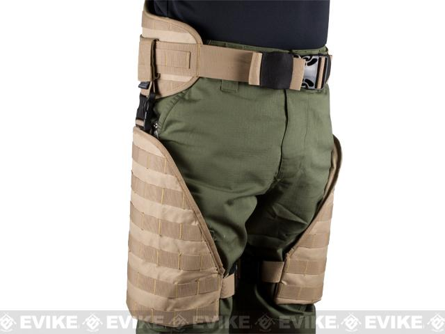 Matrix Tactical Systems MOLLE Lumbar Belt & Leg Protection System w/ Thigh Rig (Tan)