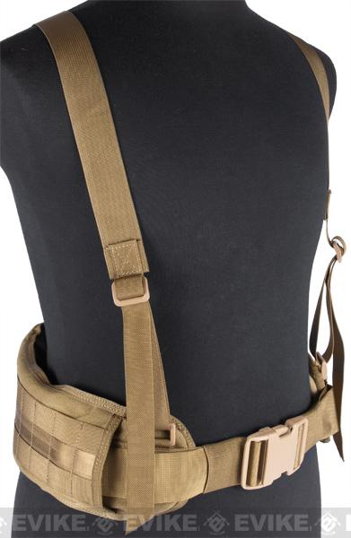Matrix TMC MOLLE Gen II Belt with Suspenders (Color: Tan)
