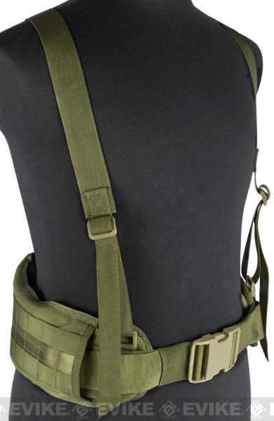 Matrix TMC MOLLE Gen II Belt with Suspenders - (OD Green)
