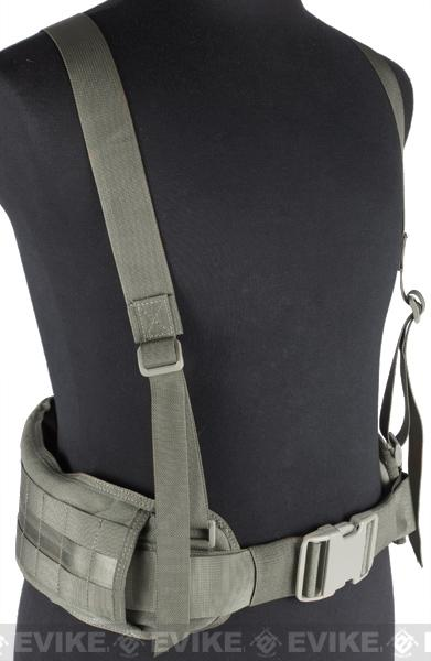 Matrix TMC MOLLE Gen II Belt with Suspenders (Color: Ranger Green)
