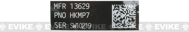 Blackjacks Weapon Code Label - HK MP7