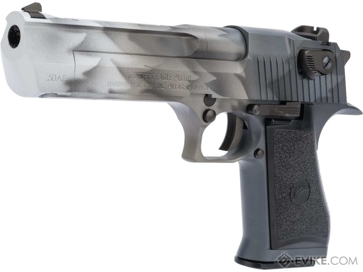WE-Tech Desert Eagle .50 AE GBB Airsoft Pistol by Cybergun w/ Black Sheep Arms Custom Cerakote (Color: White Fang)
