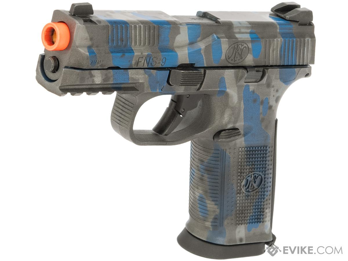 Cybergun FN Herstal Licensed FNS-9 Gas Blowback Airsoft Pistol w/ Black Sheep Arms Custom Cerakote (Color: UDC Distressed Blue)