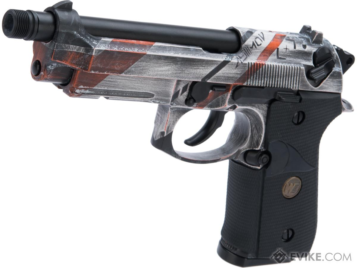 WE-Tech M9A1 GBB Airsoft Training Pistol w/ Black Sheep Arms Custom Cerakote (Color: Mov MKII)