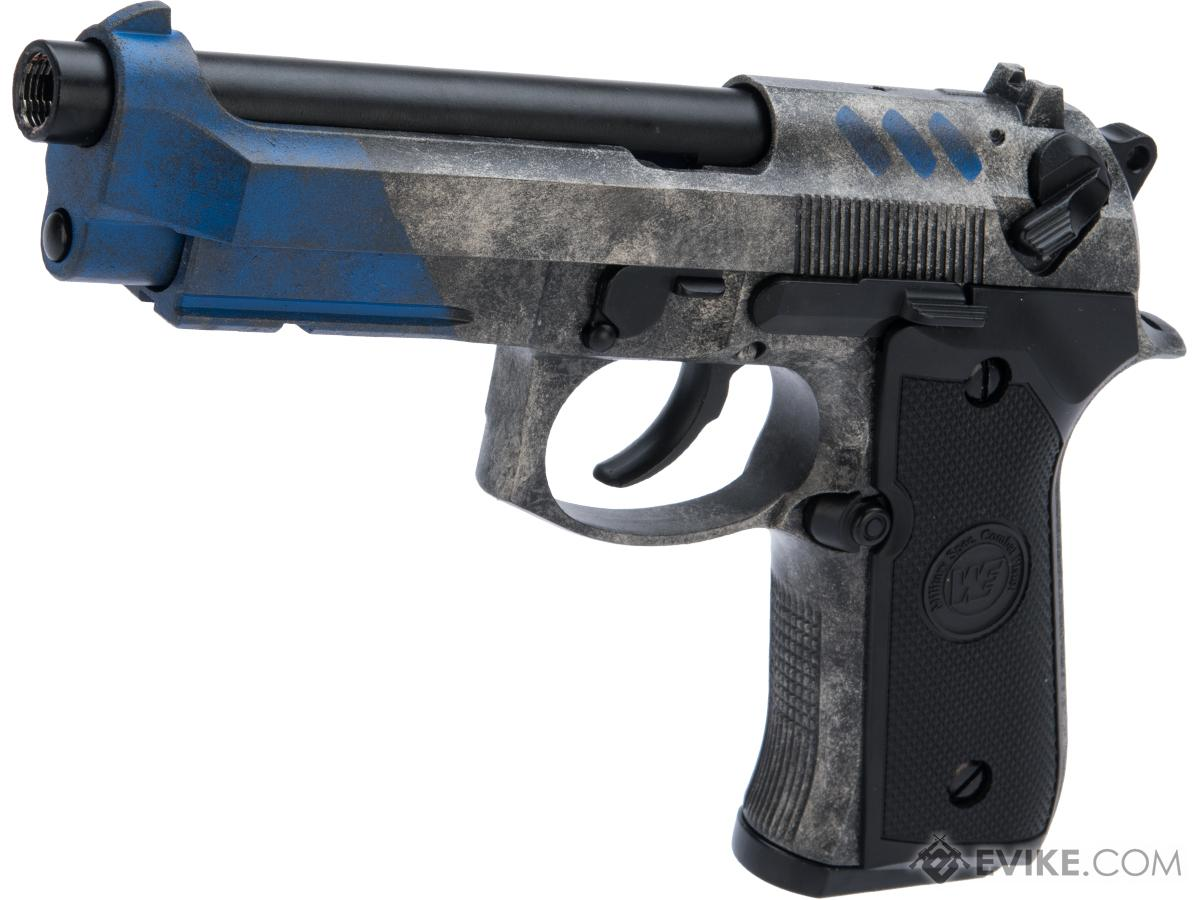 WE-Tech M9 Heavy Weight Airsoft GBB Professional Training Pistol w/ Black Sheep Arms Custom Cerakote (Color: Umbriel)