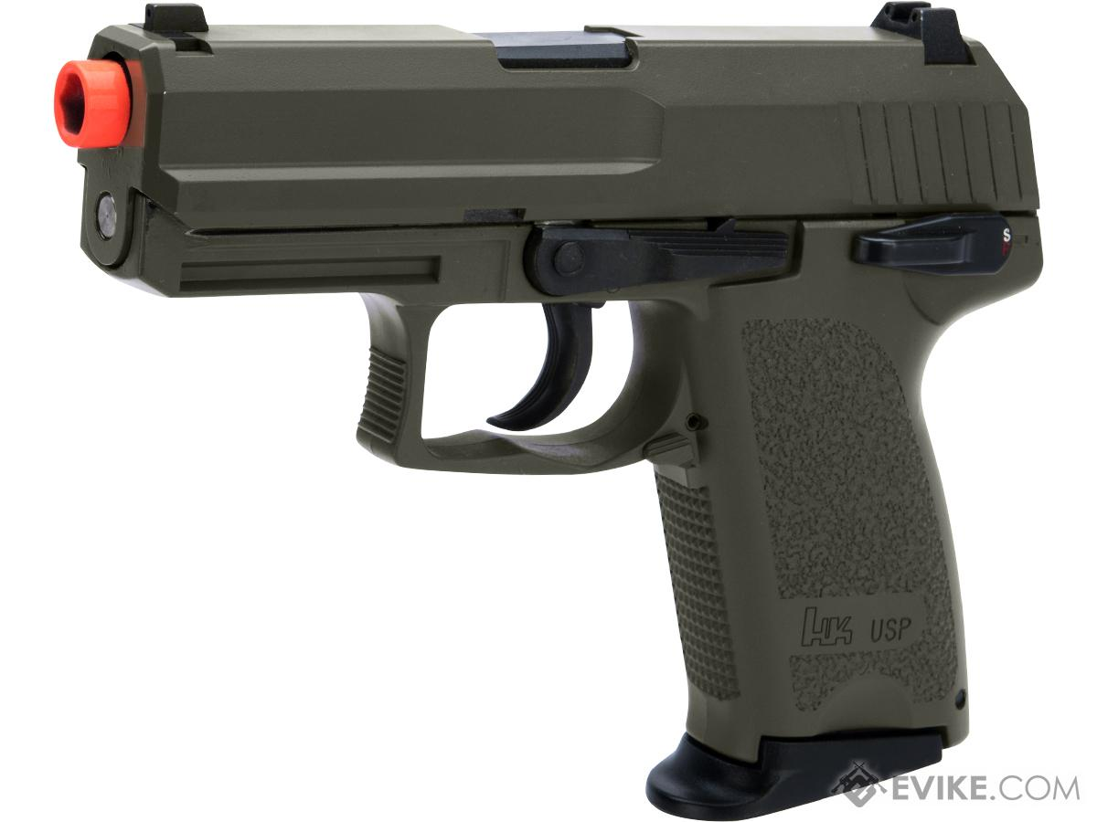 Heckler & Koch USP Compact NS2 Airsoft GBB Pistol by KWA w/ Black Sheep Arms Custom Cerakote (Color: OD Green)
