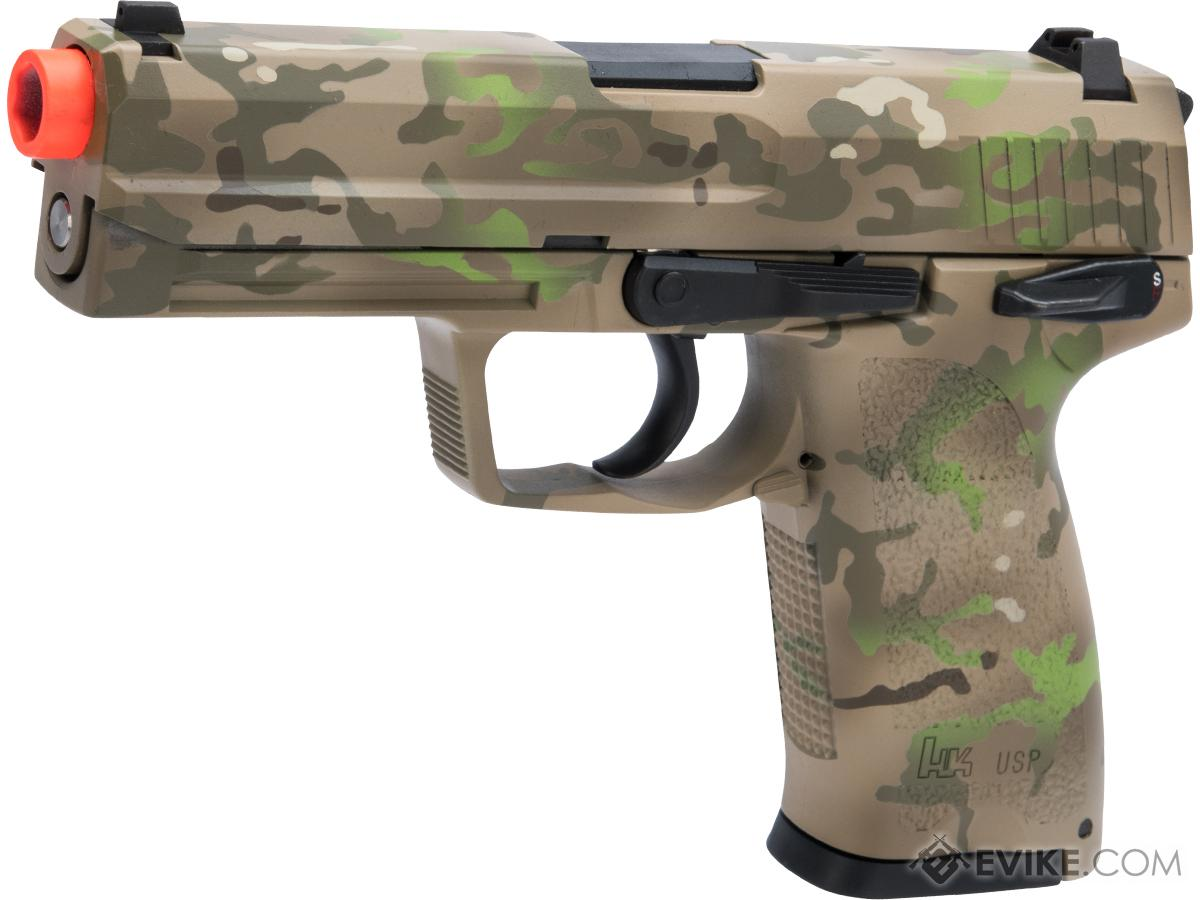 Heckler & Koch / Umarex USP Full Size NS2 Airsoft GBB Pistol by KWA w/  Black Sheep Arms Custom Cerakote (Color: 7 Color Multicam)