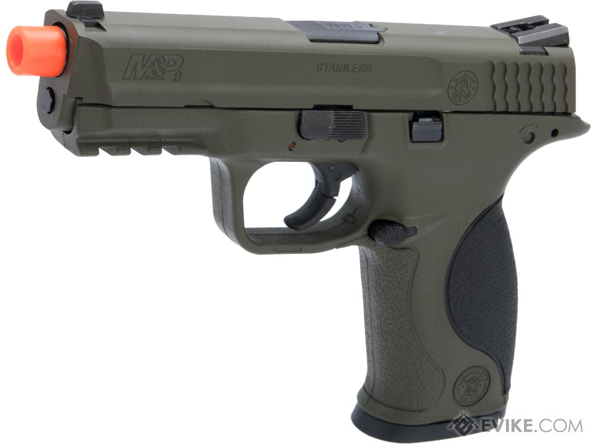 Smith & Wesson Licensed M&P 9 Full Size Airsoft GBB Pistol by VFC w/ Black Sheep Arms Custom Cerakote (Color: OD Green)