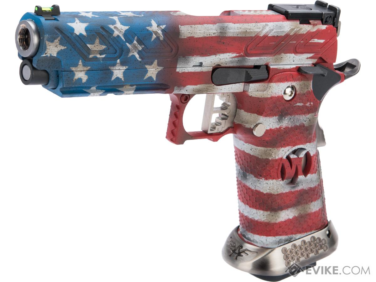 AW Custom HX2302 Hi-Capa Gas Blowback Airsoft Pistol w/ Black Sheep Arms Custom Cerakote (Color: Old Glory)