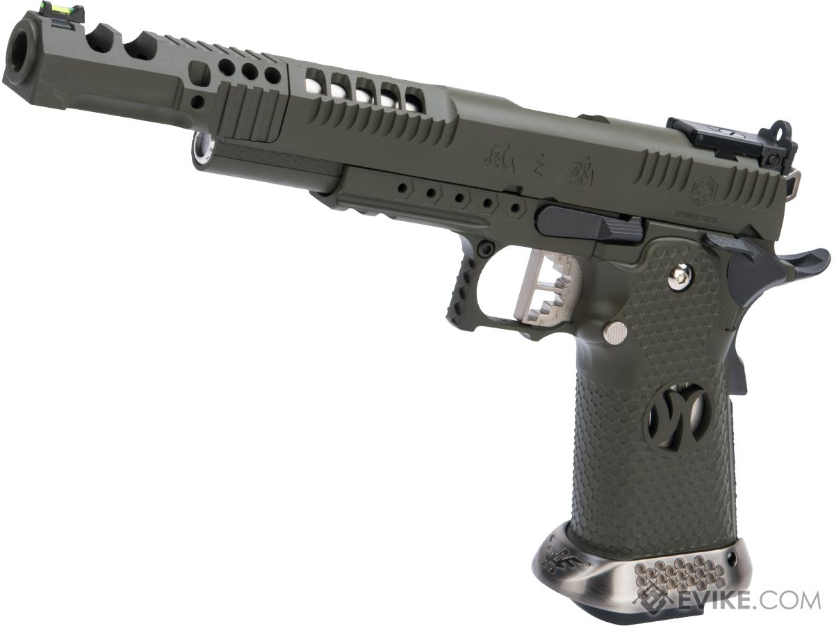 AW Custom HX24 Wind Velocity IPSC Gas Blowback Airsoft Pistol w/ Black Sheep Arms Custom Cerakote (Color: OD Green)