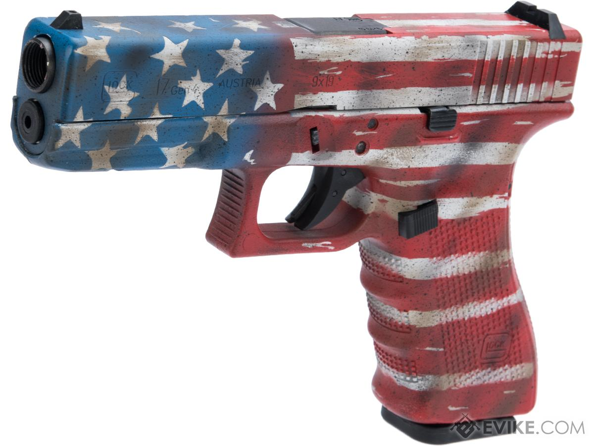 Elite Force Fully Licensed GLOCK 17 Gen.4 Gas Blowback Airsoft Pistol w/ Black Sheep Arms Custom Cerakote (Color: Old Glory)