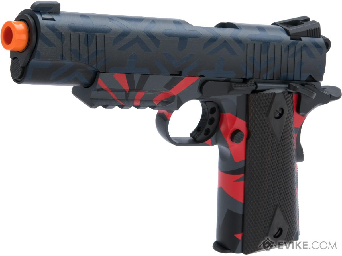 Colt Licensed 1911 Tactical Full Metal CO2 Airsoft GBB Pistol by KWC w/ Black Sheep Arms Custom Cerakote (Color: Post Modern Fighter)
