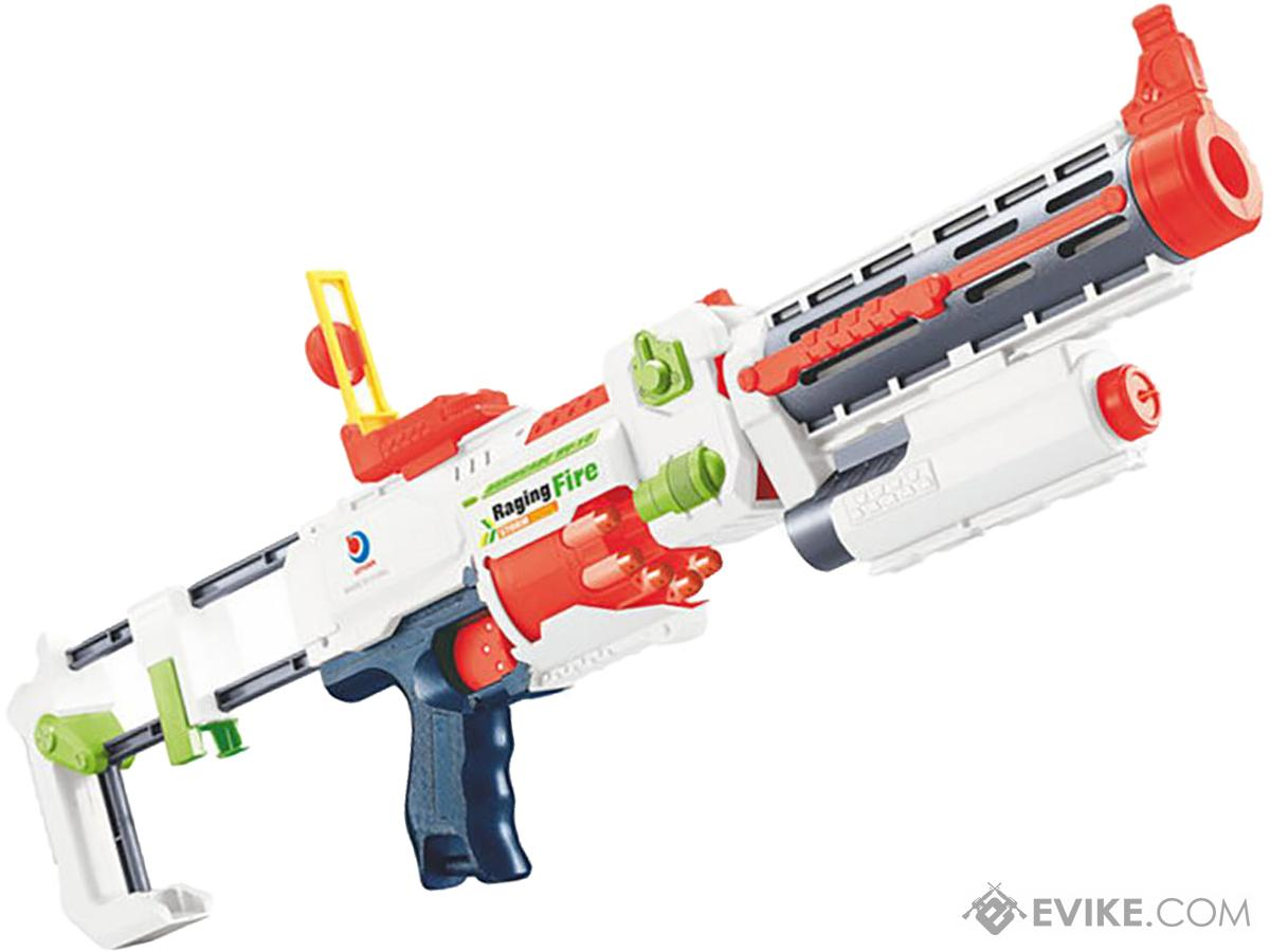 Blaze Storm Foam Blaster Full Auto Electric Foam Dart Rifle with Drum Mag & Laser (Model: Alpine)