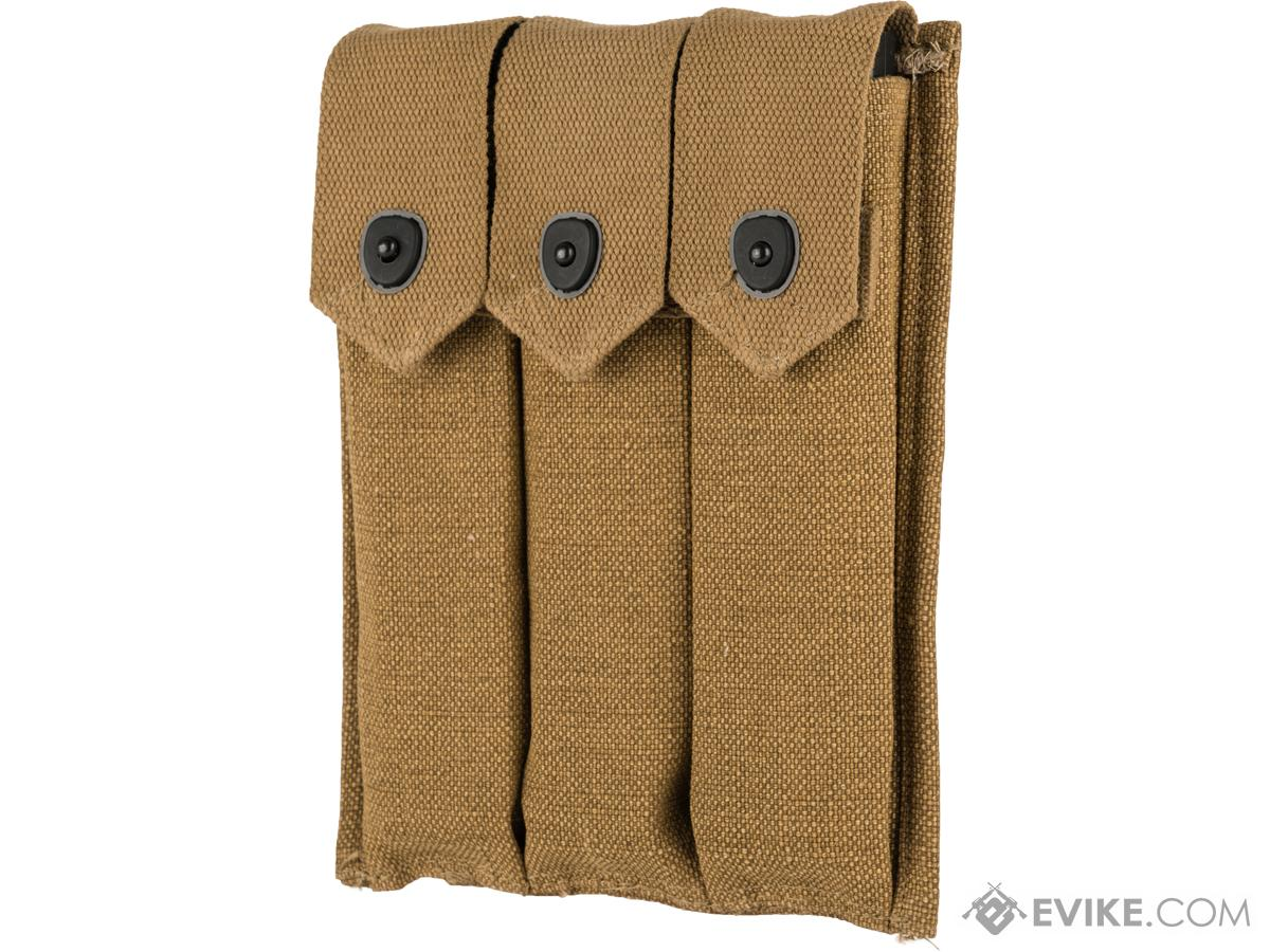 Black Owl Gear Reproduction WWII Three-Cell Magazine Pouch for M1A1 Thompson Submachine Guns