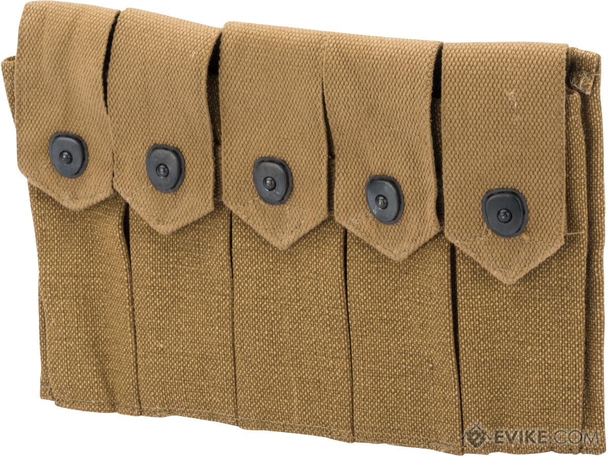 Black Owl Gear Reproduction WWII Five-Cell Magazine Pouch for M1A1 Thompson Submachine Guns