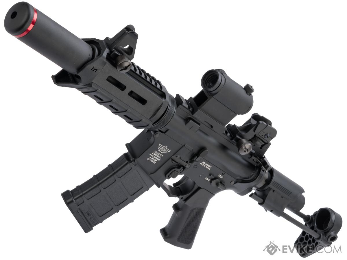 BOLT B4 PDW B.R.S.S. Recoil EBB Airsoft AEG Rifle (Color: Black / Long Suppressor)
