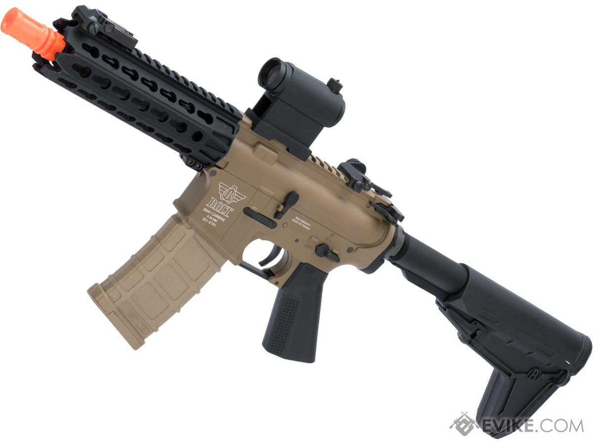 Bolt Airsoft B4 Keymod Rebel B.R.S.S EBB Airsoft AEG Rifle (Color: Tan)