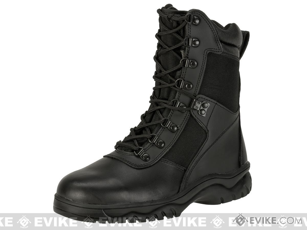 Rothco 5053 8 Forced Entry Side Zip Tactical Boots - Black (Size: 8)