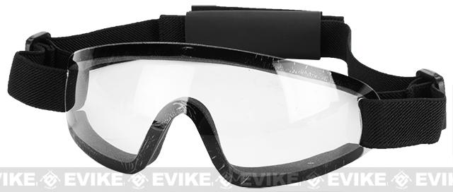 Bravo Tactical LP Low Profile Airsoft Gaming Sports Goggles (Color: Clear Lens)