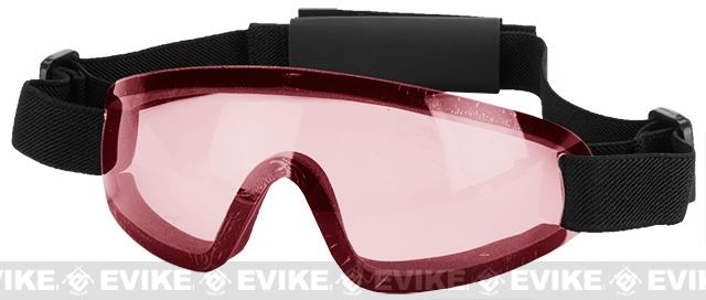 Bravo Tactical LP Low Profile Airsoft Gaming Sports Goggles (Color: Pink Lens)