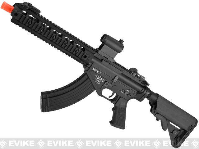 BOLT Airsoft BR-47 9 Railed B.R.S.S. Full Metal EBB Airsoft AEG Rifle (Color: Black)