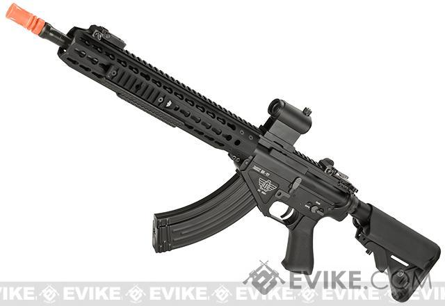 BOLT Airsoft BR-47 13 KeyMod QDC B.R.S.S. Full Metal EBB Airsoft AEG Rifle (Color: Black)