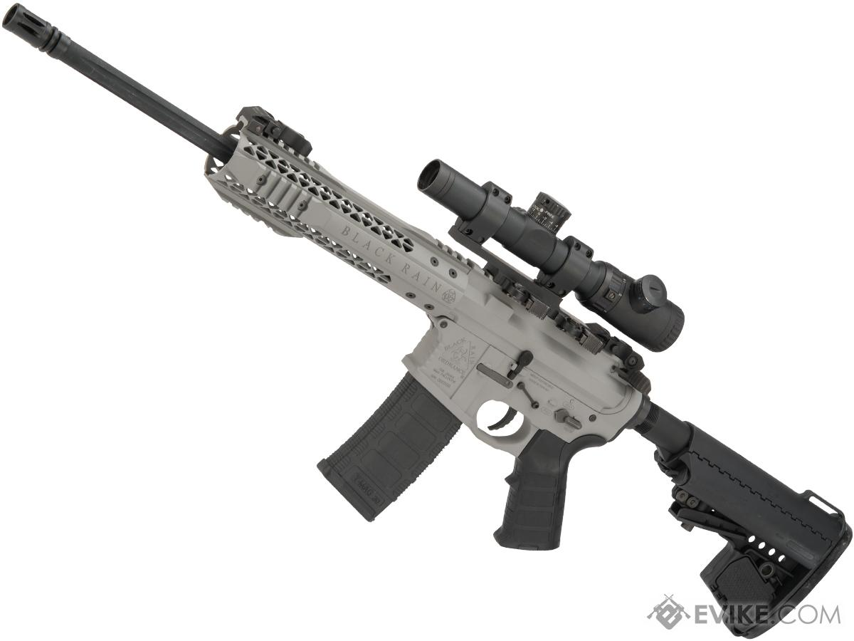 Custom Cerakote Black Rain Ordnance BRO M4 SPEC15 Airsoft AEG by King Arms (Color: Smiths Grey / Urban)