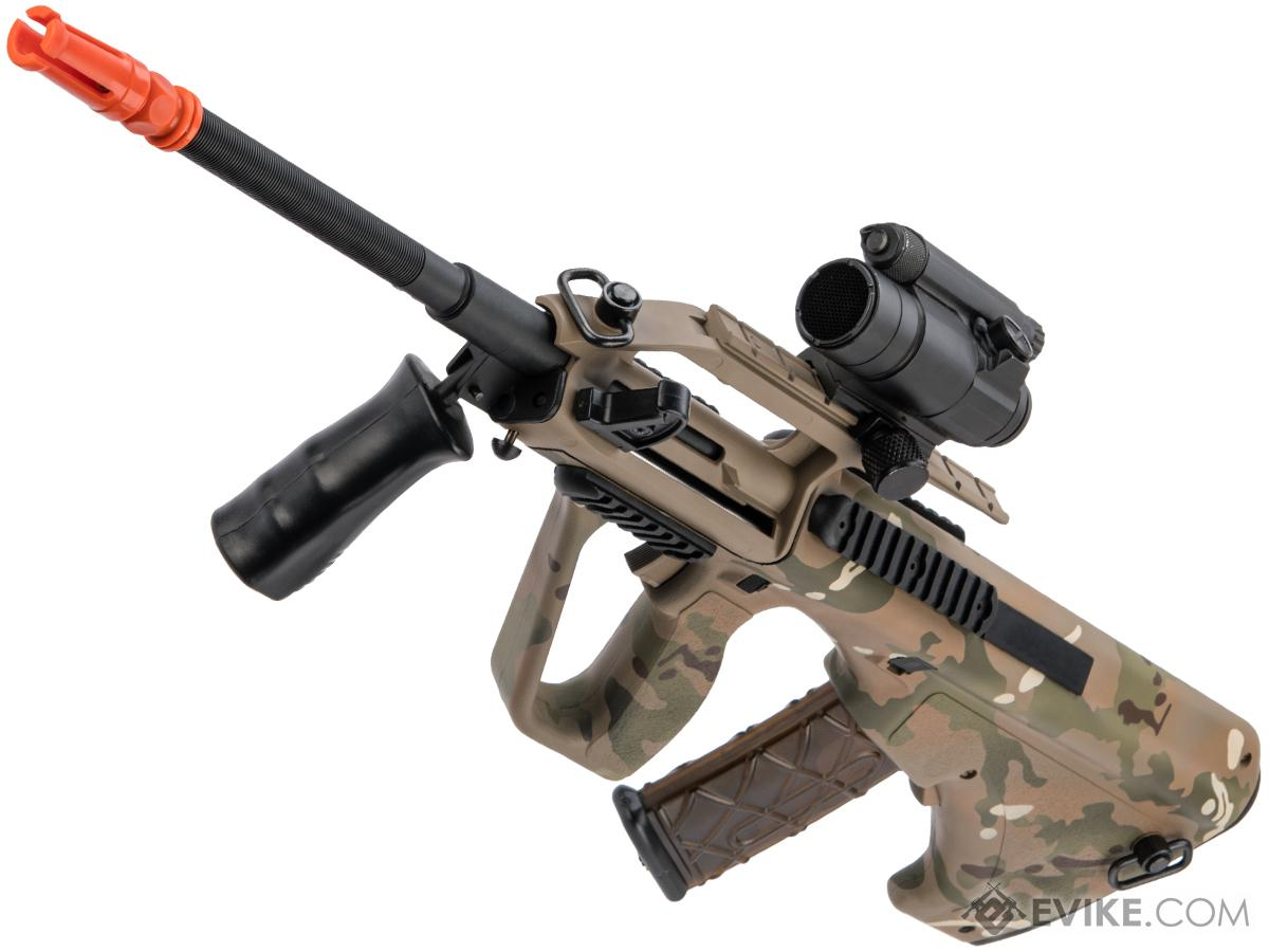 APS Kompetitor Advanced AUG KU CIV Airsoft AEG Rifle  w/ Black Sheep Arms Custom Cerakote (Color: Multicam)