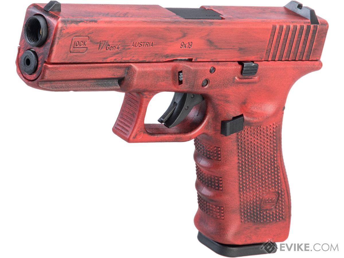Elite Force Fully Licensed GLOCK 17 Gen.4 Gas Blowback Airsoft Pistol w/ Black Sheep Arms Custom Cerakote (Color: Red Distressed)